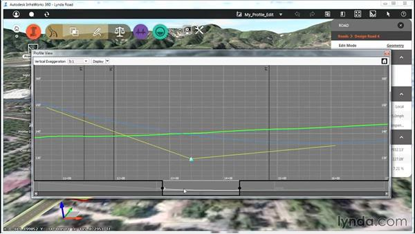 Editing with the Profile View panel: Up and Running with Roadway Design for InfraWorks 360