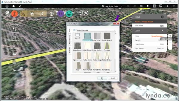 Applying style zones: Up and Running with Roadway Design for InfraWorks 360