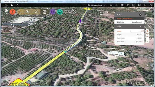 Applying lane zones: Up and Running with Roadway Design for InfraWorks 360