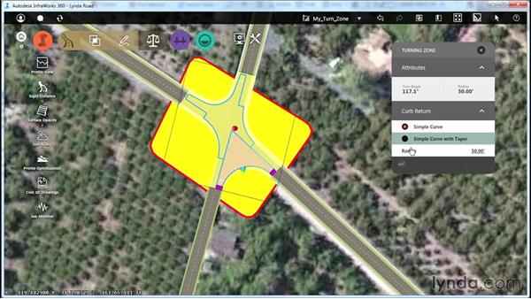 Designing a turning zone: Up and Running with Roadway Design for InfraWorks 360