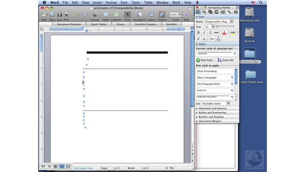 Printing style sheets: InDesign CS3 Long Documents