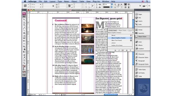Using object styles: InDesign CS3 Long Documents