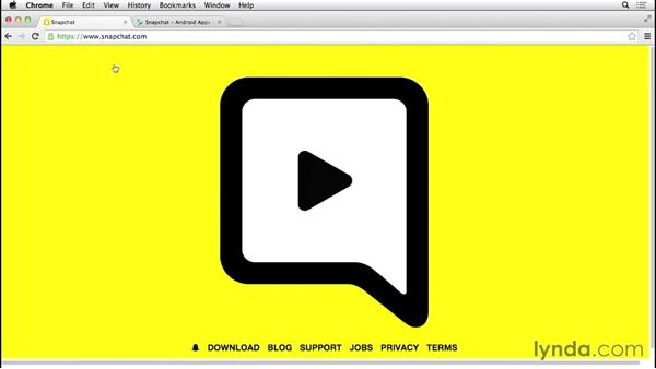 What you should know before watching this course: Up and Running with Snapchat