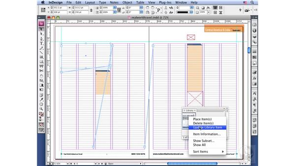 Libraries and snippets: InDesign CS3 Long Documents