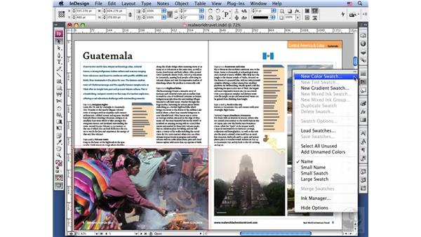 Using swatches: InDesign CS3 Long Documents