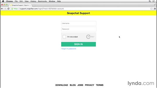 How to delete your Snapchat account: Up and Running with Snapchat