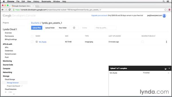 Working with buckets: Up and Running with Google Cloud Platform