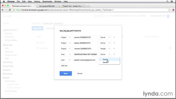 Manipulating objects in buckets: Up and Running with Google Cloud Platform