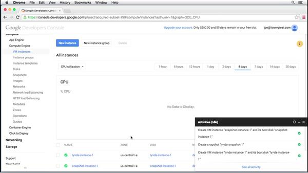 Working with resources: Up and Running with Google Cloud Platform