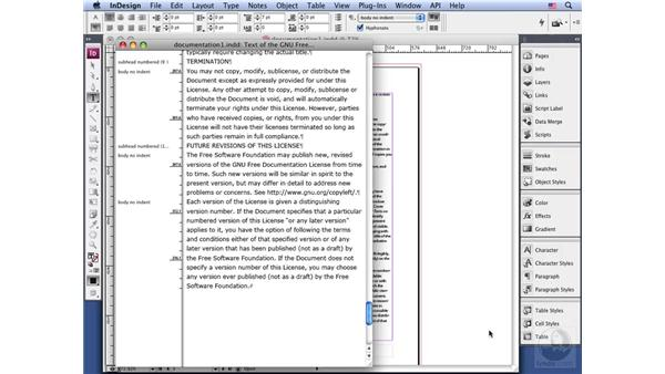 Using the depth ruler: InDesign CS3 Long Documents