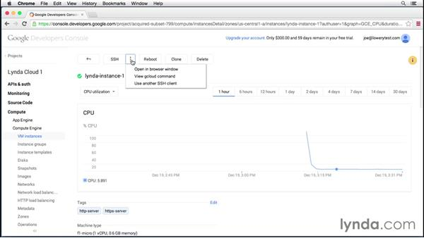 Managing instances: Up and Running with Google Cloud Platform