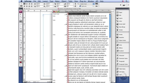 Troubleshooting with the Story Editor: InDesign CS3 Long Documents