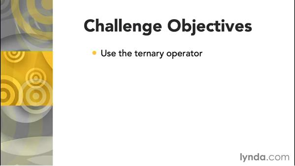 Challenge: A ternary-operator decision: Further Topics in C Programming