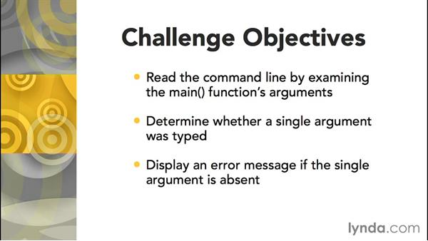 Challenge: Reading command-line arguments: Further Topics in C Programming