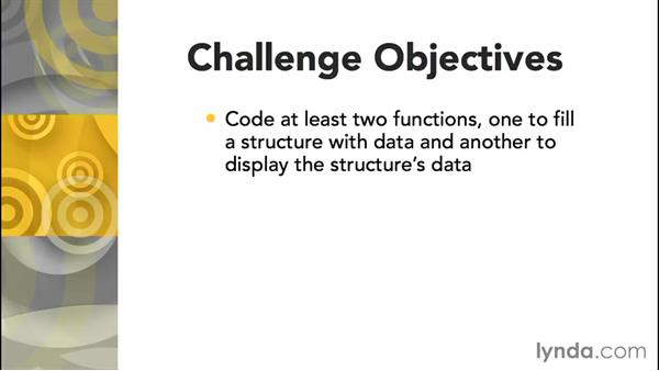 Challenge: Creating a structure function: Further Topics in C Programming