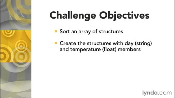 Challenge: Sorting an array of structures: Further Topics in C Programming