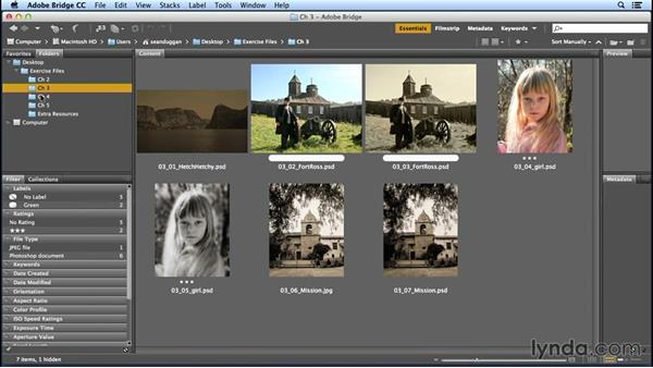 Using the exercise files: Creating Distressed and Vintage Photo Effects with Photoshop