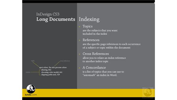 Indexing terms: InDesign CS3 Long Documents