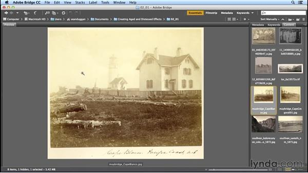 Analyzing the tonal characteristics of old images: Creating Distressed and Vintage Photo Effects with Photoshop