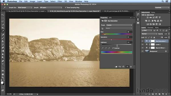 how to add sepia tone in photoshop