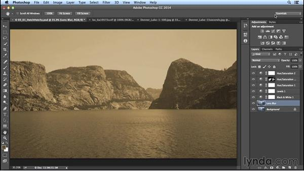 Adjusting focus to emulate a vintage image: Creating Distressed and Vintage Photo Effects with Photoshop