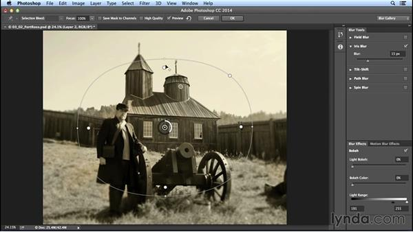 Focus falloff with Iris Blur: Creating Distressed and Vintage Photo Effects with Photoshop