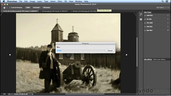 Focus distortion with Spin Blur and Radial Blur: Creating Distressed and Vintage Photo Effects with Photoshop