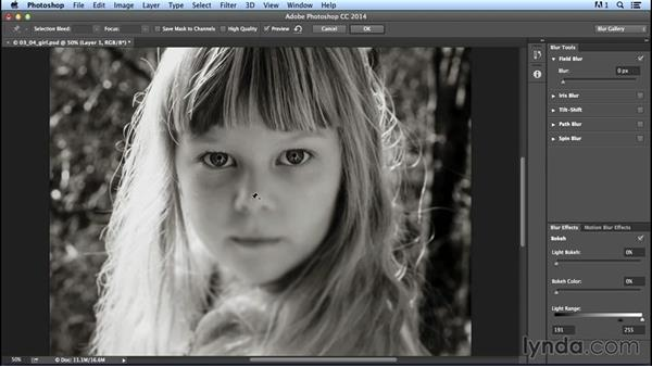 Uneven focus with the Field Blur filter: Creating Distressed and Vintage Photo Effects with Photoshop