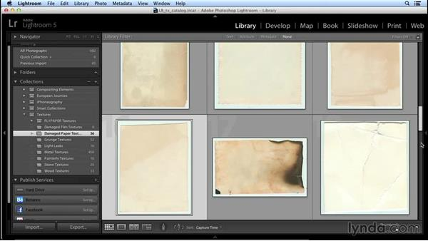 Building an archive of texture photos: Creating Distressed and Vintage Photo Effects with Photoshop