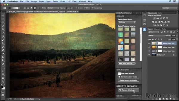 Using the Adobe Paper Textures Pro panel: Creating Distressed and Vintage Photo Effects with Photoshop