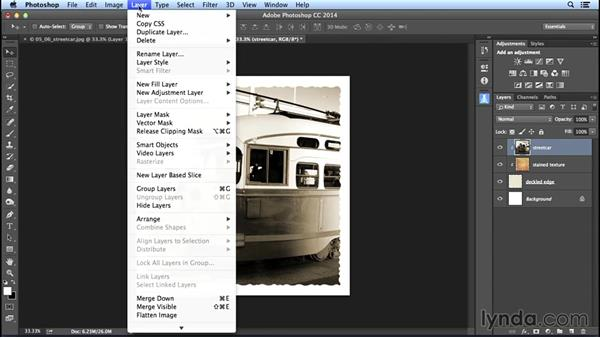 Combining a photo with a vintage-image border: Creating Distressed and Vintage Photo Effects with Photoshop