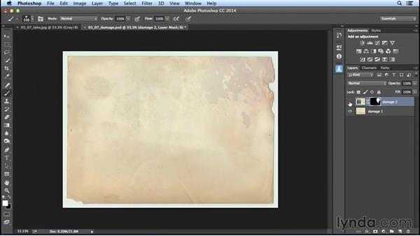 Combining images for custom distressed effects: Creating Distressed and Vintage Photo Effects with Photoshop