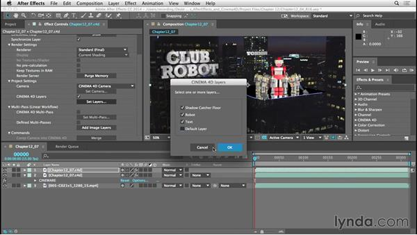 Checking out the new CINEWARE features with After Effects CC 2014.1: CINEMA 4D Lite for After Effects: Getting Started