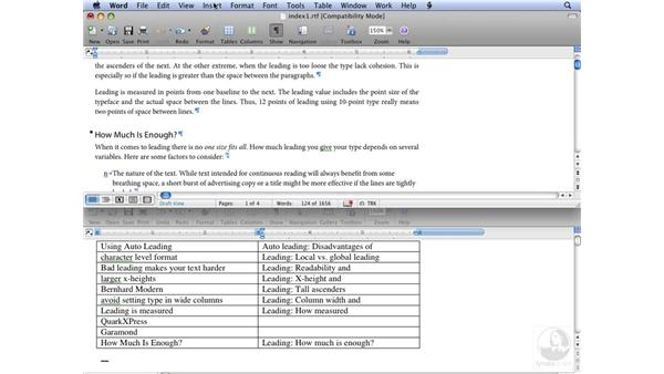 Using Word to create index entries: InDesign CS3 Long Documents