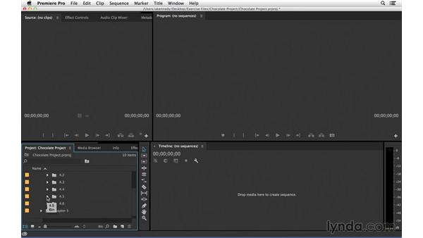 Using the exercise files: Introduction to Video Editing