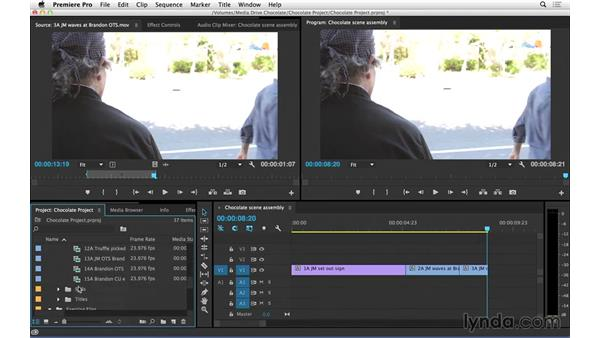 Starting the edit: Continuity editing: Introduction to Video Editing