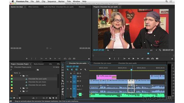 Adjusting audio: Introduction to Video Editing