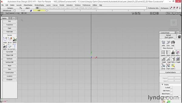 New curves: CV, Edit Point, and Sketch curves: Alias Essential Training