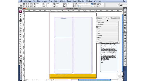 Using Data Merge: InDesign CS3 Long Documents