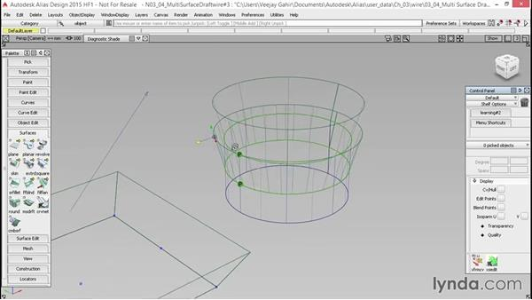 Multi-Surface Draft: Alias Essential Training