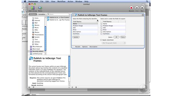 Using FileMaker with Automator: InDesign CS3 Long Documents