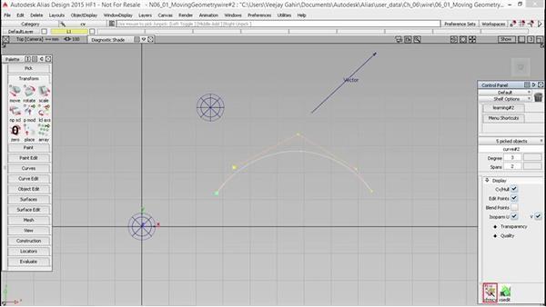 Moving geometry: Alias Essential Training
