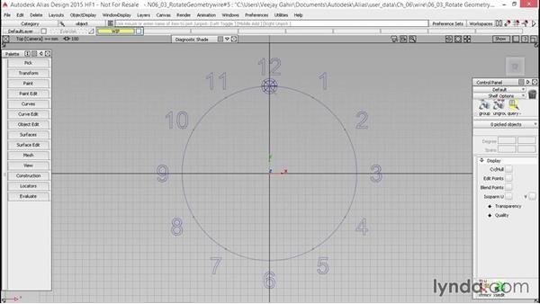 Rotating geometry: Alias Essential Training
