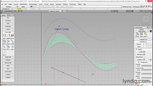 Rebuilding curves: Alias Essential Training