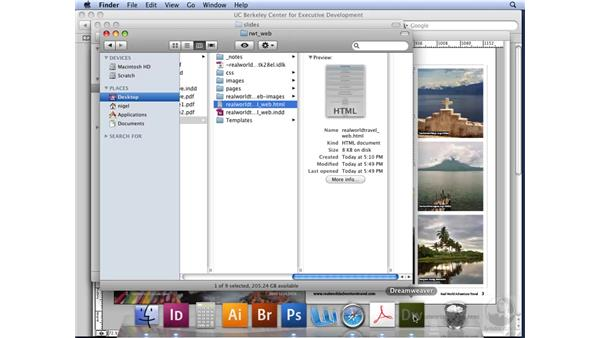 XHTML and Dreamweaver: InDesign CS3 Long Documents