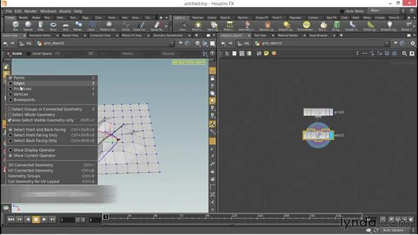 How to modify geometry: Up and Running with Houdini