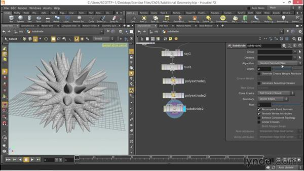 Understanding additional geometry functions: Up and Running with Houdini