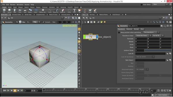 Applying procedural animation channels to geometry: Up and Running with Houdini