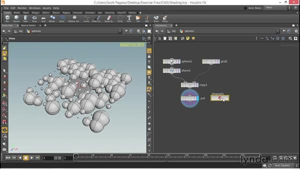 Using the Mantra surface shader: Up and Running with Houdini