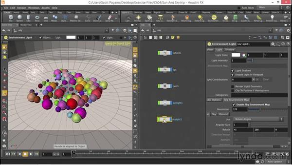 Using sun and sky lighting: Up and Running with Houdini